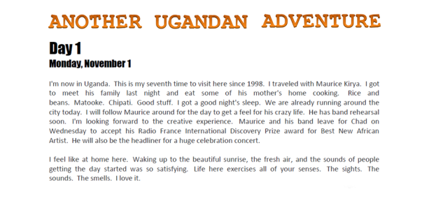 Another Ugandan Adventure